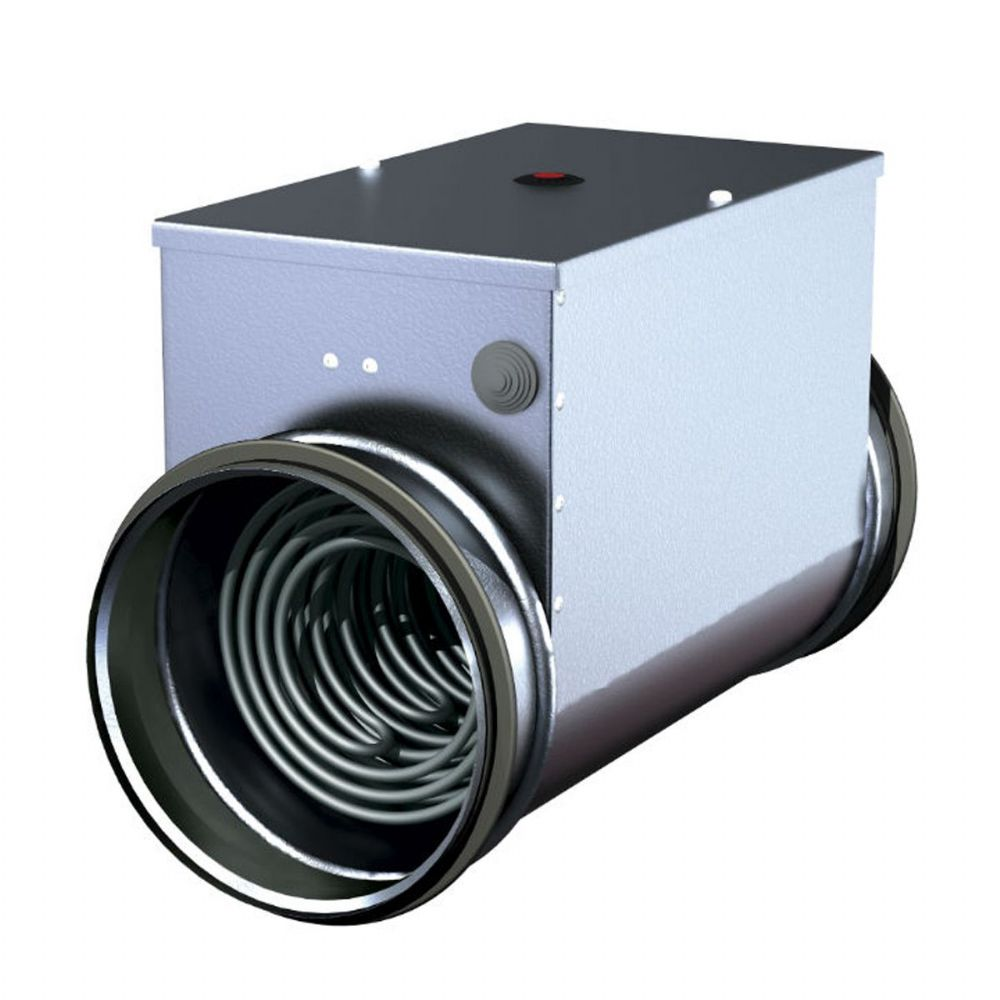 S&P Metal Duct Heater Battery With Integrated Temperature Controller Kit 200mm 240V~50Hz
